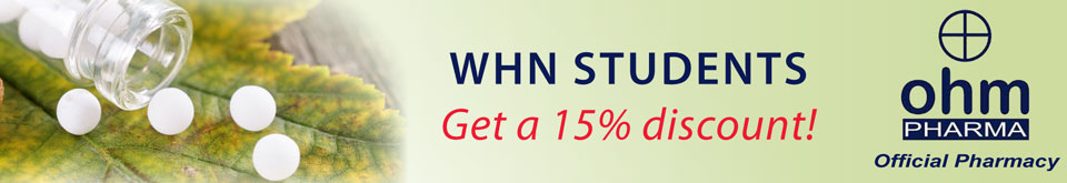 OHM Pharma banner 15% discount for WHN students